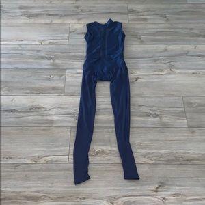 AA dance designs unitard with mesh leg pants
